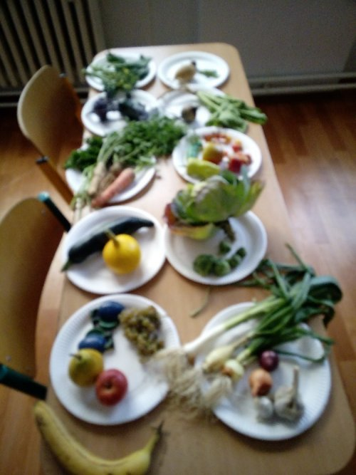 Výstava ovoce a zeleniny v 1. a 2. třídě